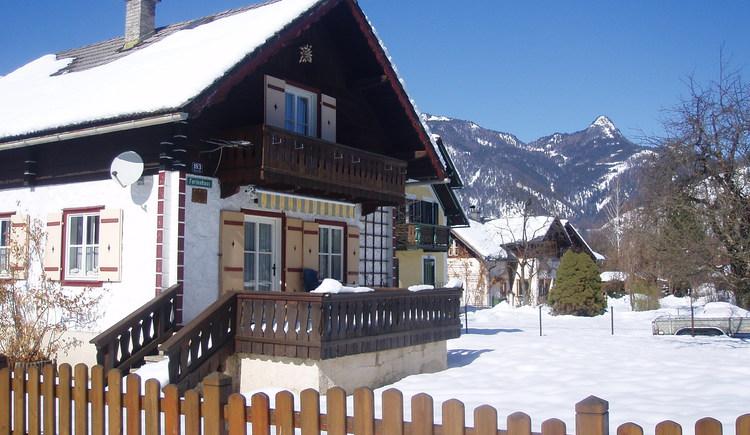 Das Ferienhaus Knusperhaus in Strobl am Wolfgangsee im Winter