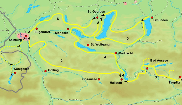 Salzburg Salzkammergut Rennradreise - die Tourenübersicht.