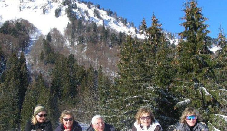 Schneeschuhwanderung mit dem Hausherrn