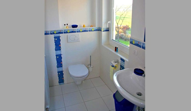 look at the bathroom with toilet and sink