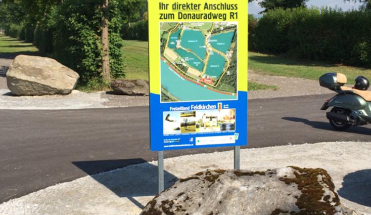 Donauradweg Zufahrt zu den Badeseen (© Tourismusverband Feldkirchen an der Donau)
