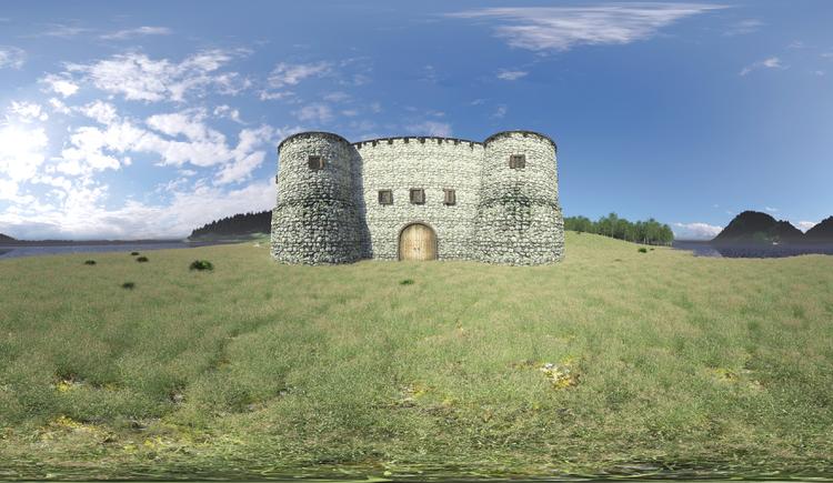 Römerburgus Oberranna, Römerkastell Stanacum, Engelhartszell, historische Rekonstruktion. (© WGD Donau Oberösterreich Tourismus GmbH)