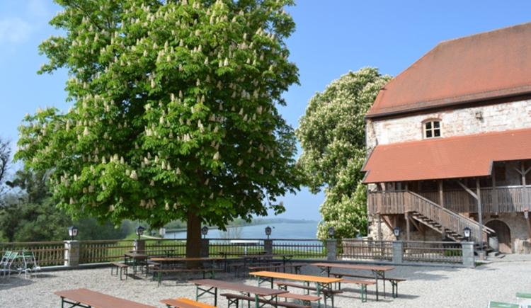 Blick auf Innstaustufe Frauenstein (© www.mining.ooe.gv.at)