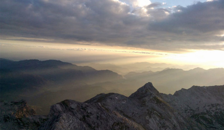 Sonnenaufgang Richtung Teufelsmauer-Kleiner Priel