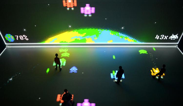 Videospiele ganz groß im Deepspace 8k. (© Magdalena Leitner)