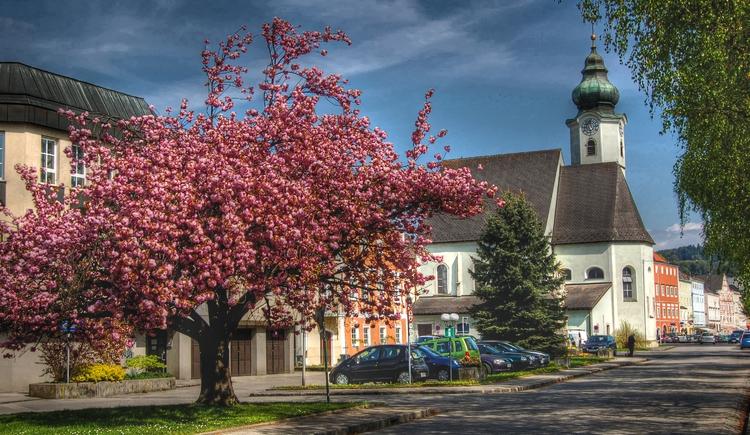 Pfarrkirche Aschach, spätgotisches Gotteshaus, 1490