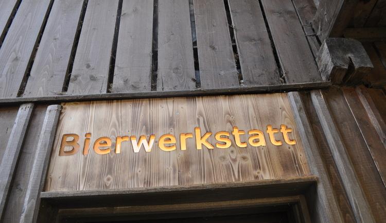 Eingang zur Bierwerkstatt. (© Bräuer-Reiter)