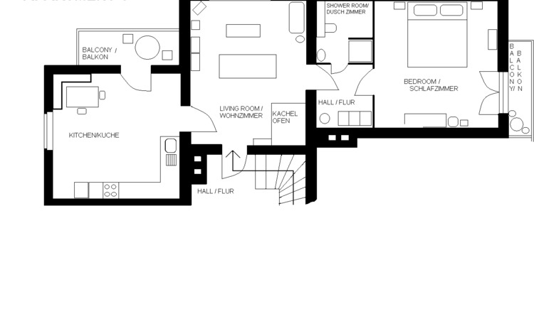Apartment 1, floorplan
