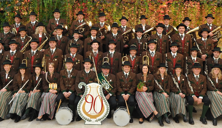 Group Picture of the brass band Ramsau in Bad Goisern am Hallstättersee