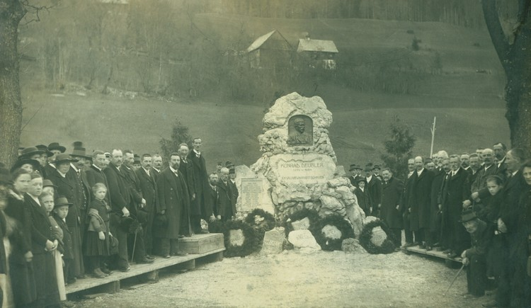 Konrad Deubler Denkmal vierte Station früher