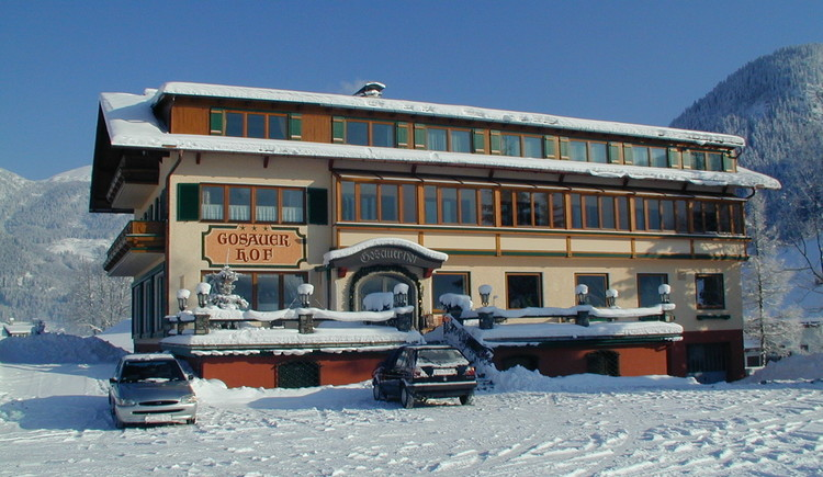 Der Gosauerhof ist auch im Winter schön anzusehen.