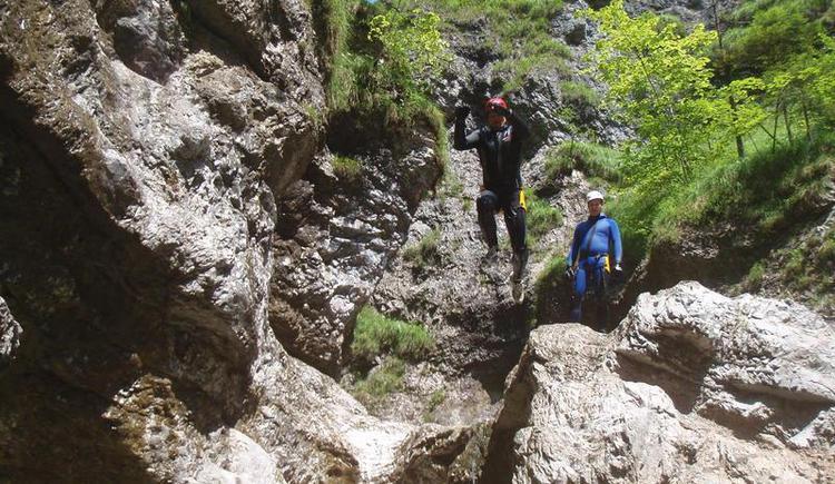 Canyoning Sprung 2 (© Obermayr)