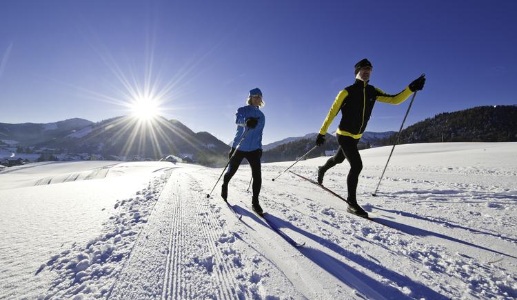 Cross country skiing in Faistenau - village trail (© Fuschlsee Tourismus GmbH / Erber)