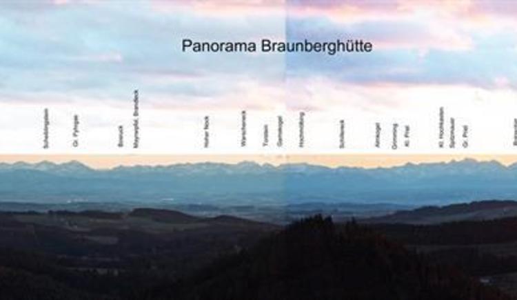 Panorama Braunberghütte (© Braunberghütte Alpenverein)
