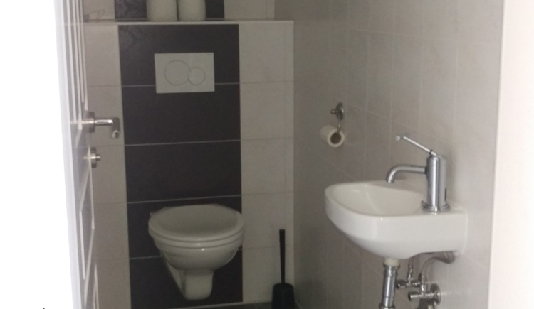 The WC with sink in the Apartment Stüger is modern equipped.
