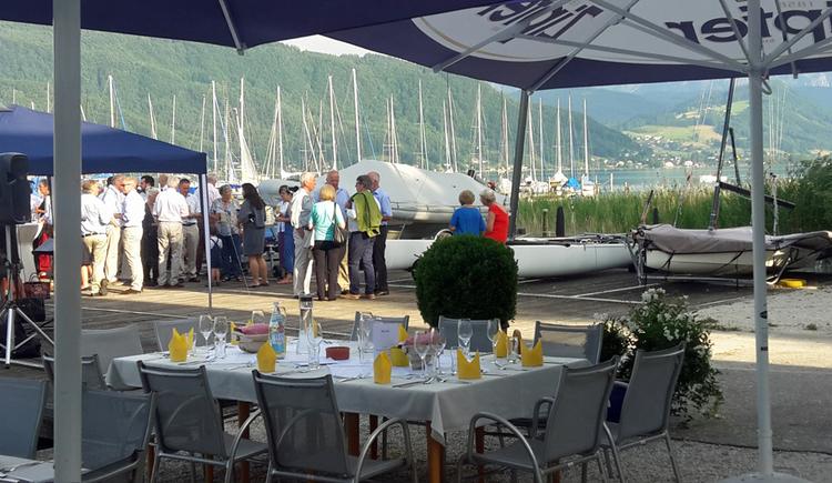 Restaurant UnsinkBar im Segelclub Kammersee in Litzlberg