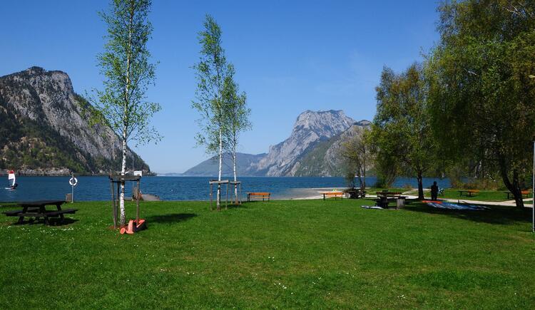 Freizeitanlage auf der linken Flussseite (© Gerhard Spengler)