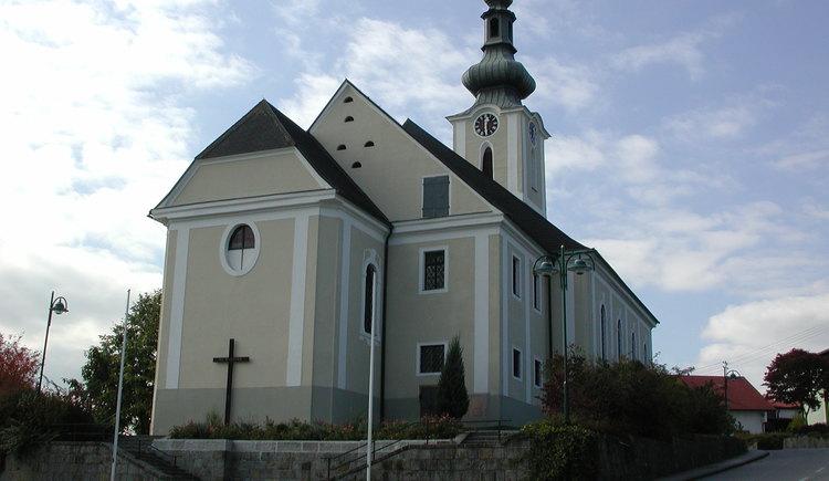 Ausblicke Panorama-Rundwanderweg, Vituskirche in Hehenberg, Pfarrkirche.