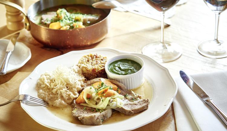 Feiner Tafelspitz Restaurant Hoamat, Haibach. (© WGD Donau Oberösterreich Tourismus GmbH-Peter Podpera)