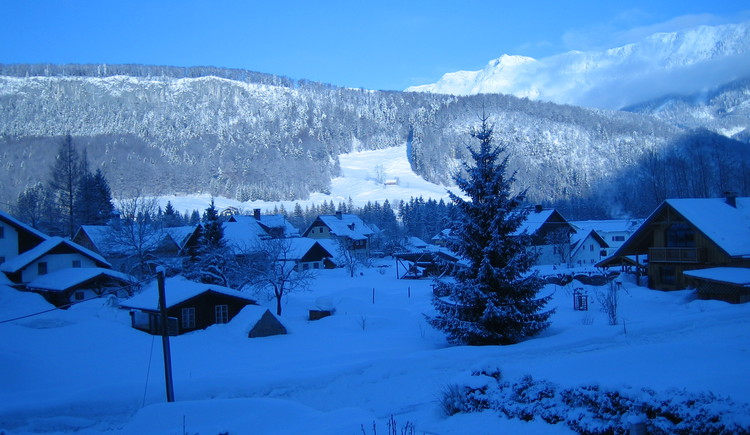 View from the apartment on a wonderful winter panorama