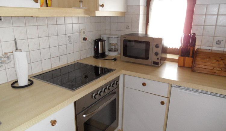 Die Küche der Ferienwohnung Cijan Silvia in Hallstatt Lahn