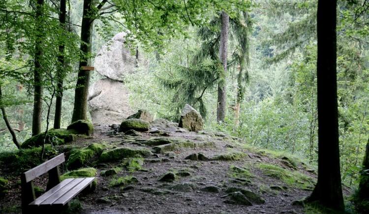 Der Kerzenstein in der Nähe des Schlagerwirts