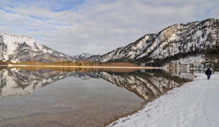 Offensee im Winter bei Seeau (© Tourismusbüro Ebensee, Spengler)