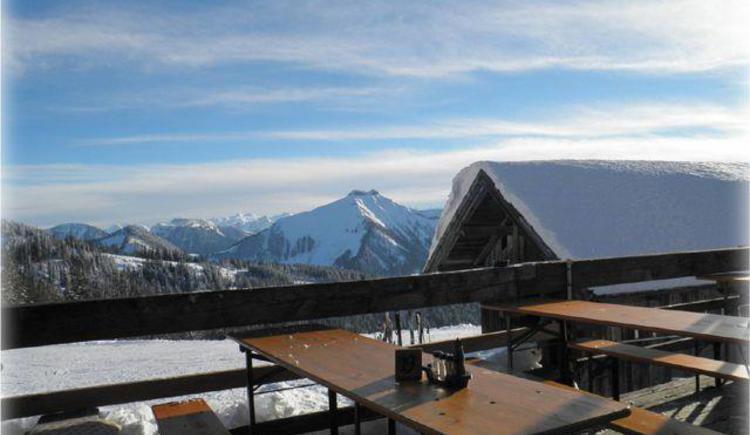 Winterpanorama im Skigebiet