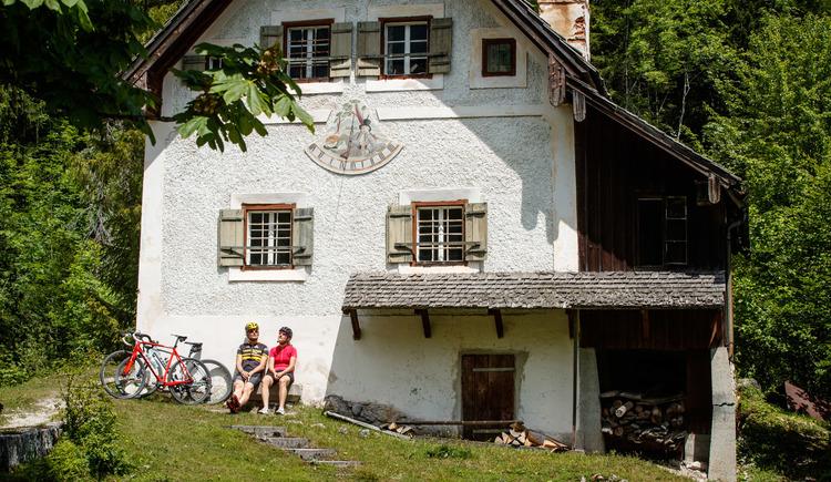 Das alte Schleusenhäuschen bei der Chorinskyklause. (© Erwin Haiden Bikeboard.at)