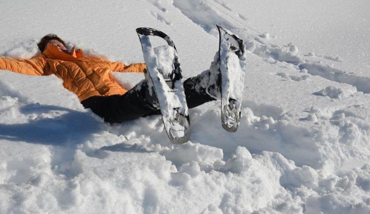 Schneeengerl bei der Schneeschuhwanderung