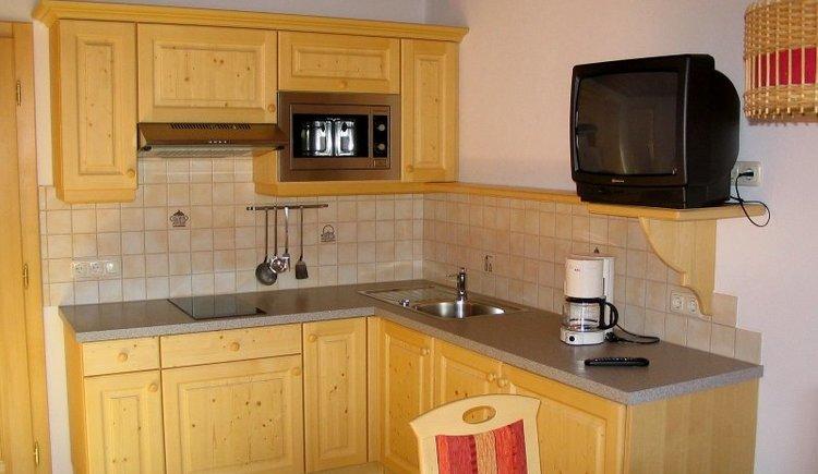 Die Küche im Haus Sarstein ist voll ausgestattet.