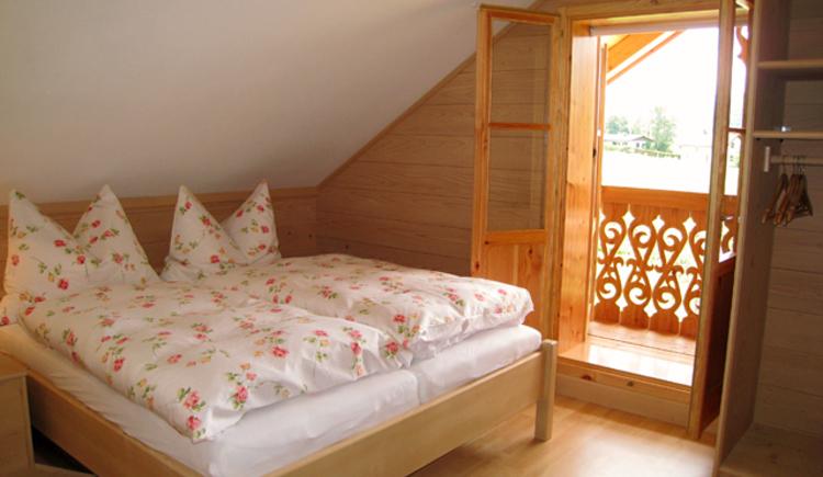 Ferienhütte Wolfgangsee Schlafzimmer