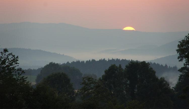 Sonnenuntergang in Hörschlag (© Tourismusverband Mühlviertler Kernland)