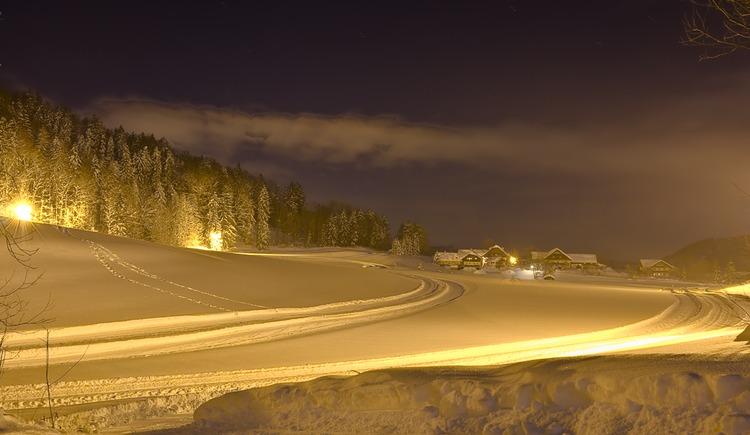 Trail under floodlight (© Tourismusverband Faistenau / Josef Rehrl)