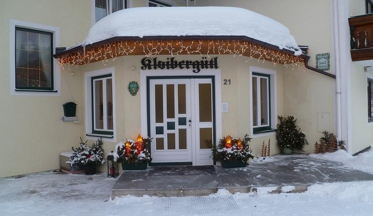 Hausansicht Winter. (© Kloibergütl)