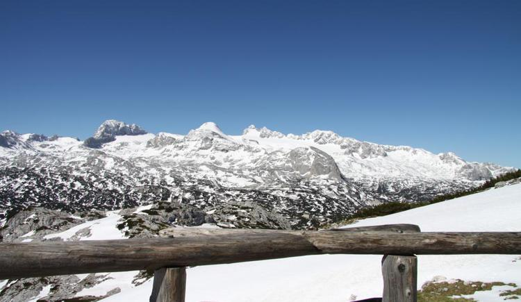 from the terrace you have a breathtaking panorama view on the Dachstein