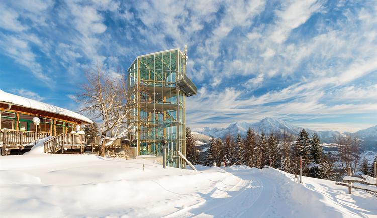 Winter am Turm (© NP Kalkalpen_A.Mayr)