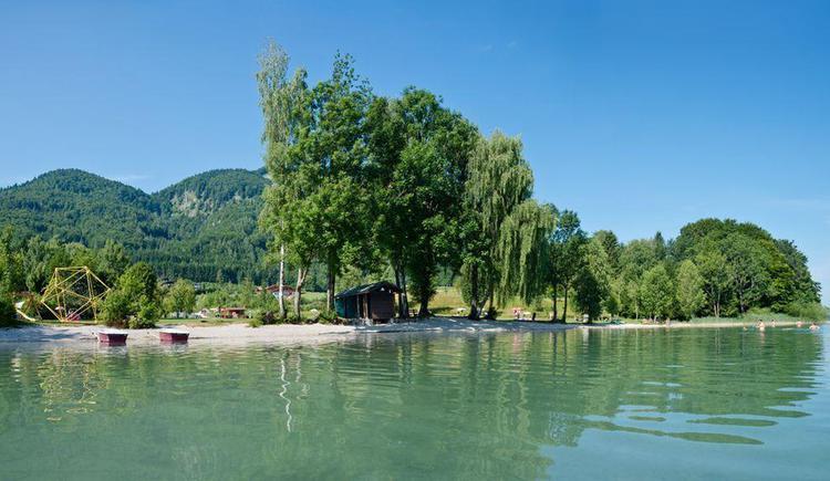 Badeplatz Seeansicht (© Wesenauerhof)