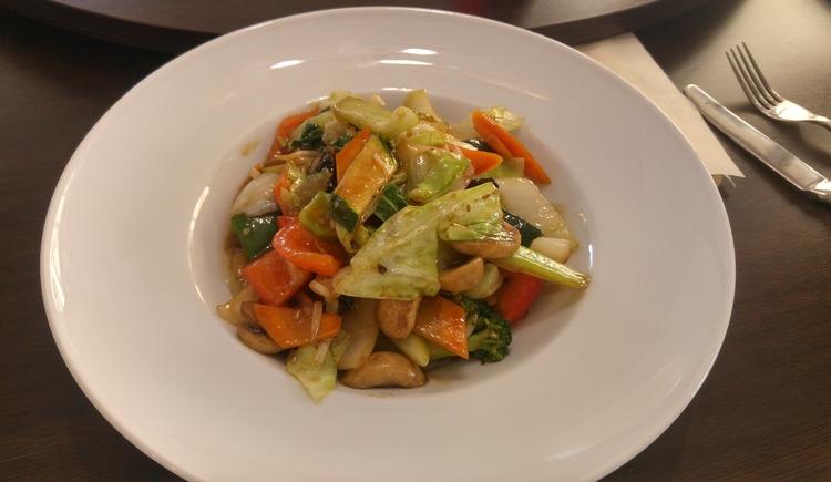 Gebratenes frisches Gemüse im Restaurant Haikky in Bad Goisern. (© TVB Unterberger)
