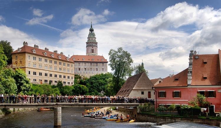 Stadt Krumau in Tschechien bekannt als Weltkulturerbe (© OÖ.Tourismus/Röbl)
