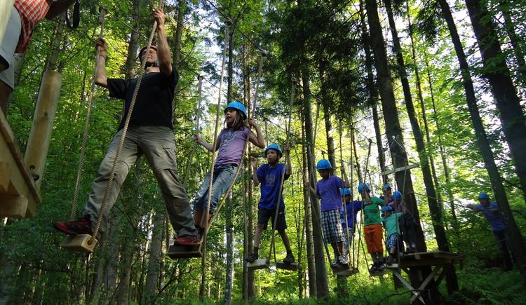 Woodland climbing park in Faistenau (© Waldkletterweg Faistenau, Gerhard Mösenbichler)