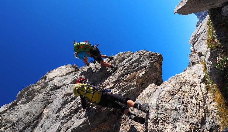 Gr. Priel Klettersteig Holger Friedl Manuela 10.10.2018 09-38-35 (© TVB Pyhrn-Priel/Kniewasser)