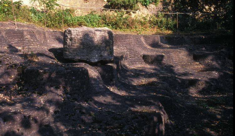 Steinbruch für Mühlsteine in Perg