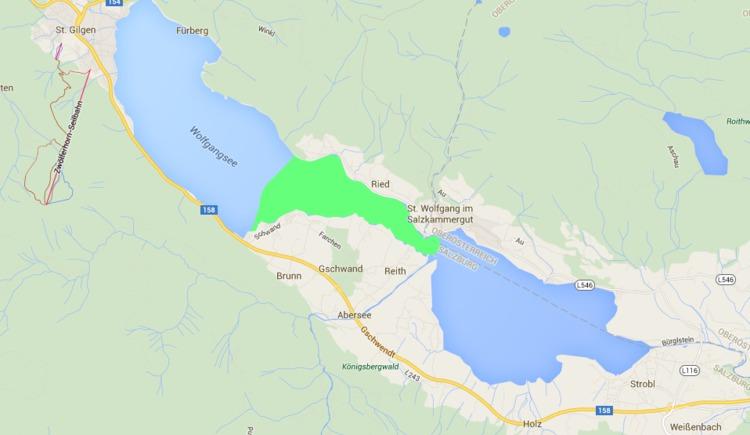 Fischen Wolfgangsee - Westteil Ried bis Schwand