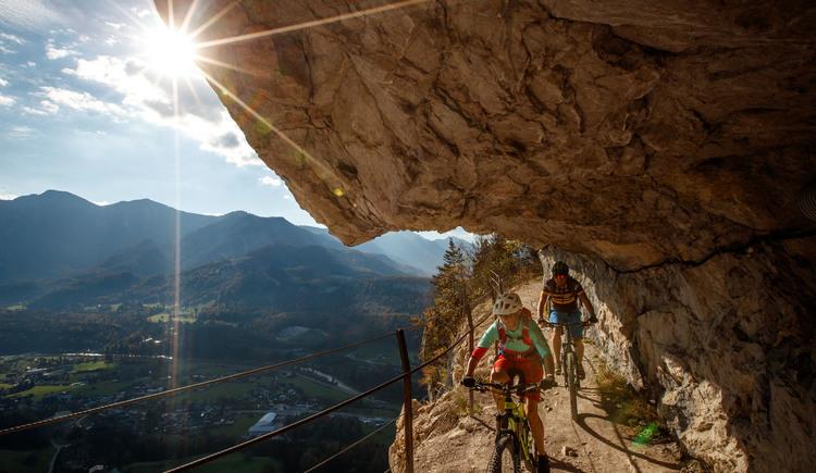 Ein Muss für jeden Mountainbiker - Die Fahrt durch die Ewige Wand in Bad Goisern. (© © Erwin Haiden, bikeboard.at)