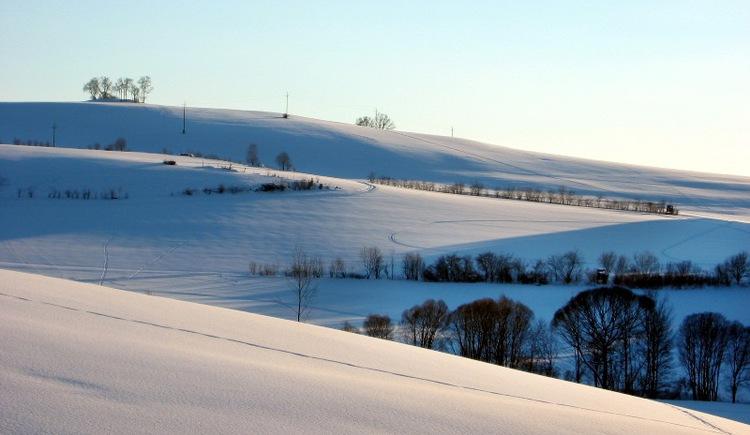 Zauberhafte Winterlandschaft rund um Rohrbach-Berg.