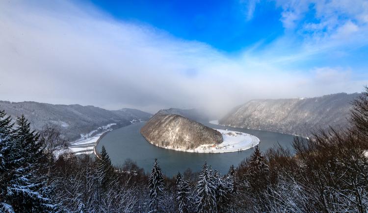 Schlögener Donaublick im Winter (© Johannes Kaindlstorfer)