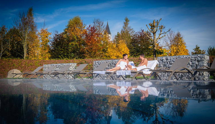 saunagarten-herbststimmung (© Lebensquell Bad Zell)