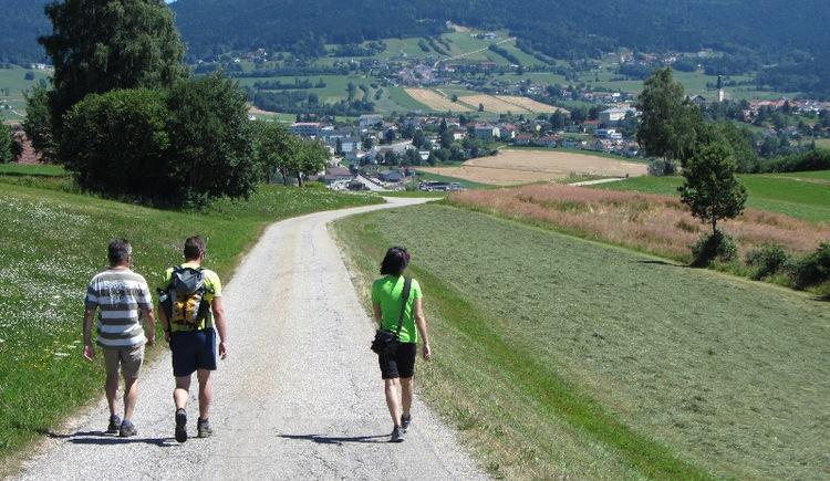 Wandern am Böhmerwaldblickweg - Blick auf Ulrichsberg