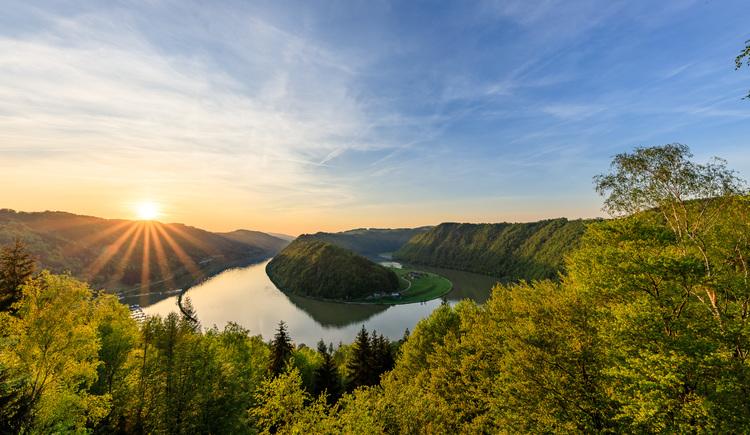 Schlögener Donaublick bei Sonnenuntergang (© Johannes Kaindlstorfer)
